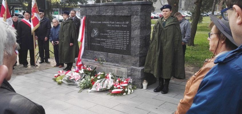 Galeria: Uroczystość odsłonięcia tablicy pamiątkowej w parku 2. KOP na bydgoskim Błoniu – 27.04.2017 r.